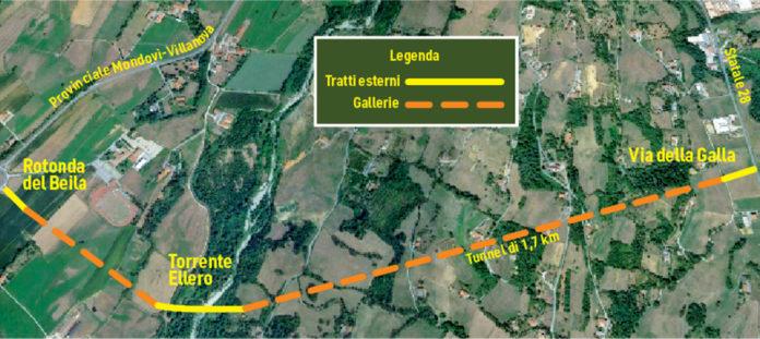 Tangenziale Mondovì, traforo Armo-Cantarana, interventi sulla Statale 28