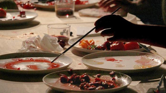 pittori dipingono scarti cibo