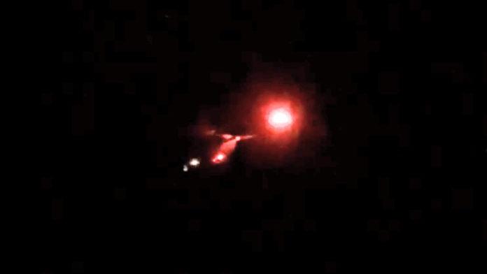 atterraggio notturno dell'elisoccorso al Rifugio Mondovì