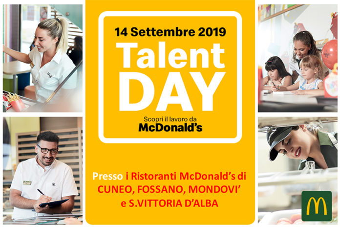 Al NcDonald's di Mondovì arriva il Talent Day
