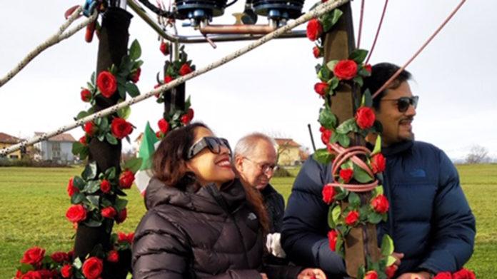 coppia indiana nozze mongolfiera mondovì