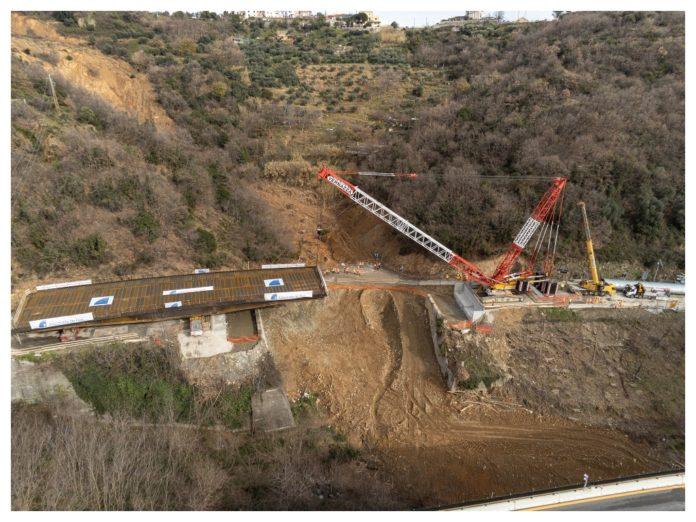 riapre viadotto A6 crollato