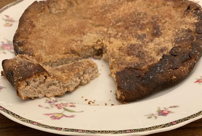 Focaccia dolce alla farina di castagne