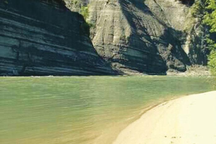 La spiaggia nascosta di Clavesana