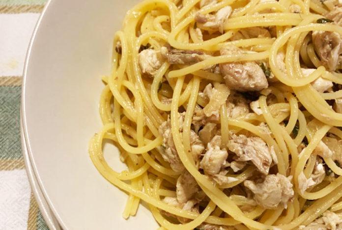 Spaghetti allo sgombro fresco
