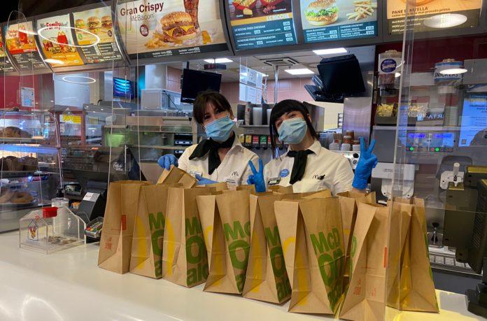 McDonald's dona pasti caldi alla Caritas di Mondovì