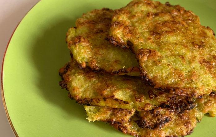 Cialdine zucchine, fave e pecorino