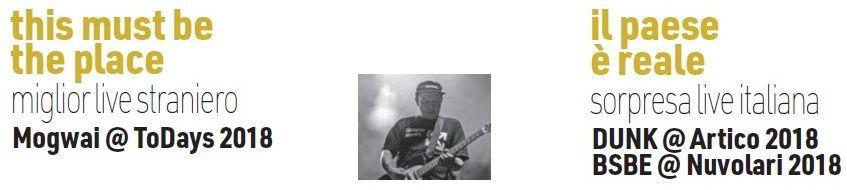<p>Mogwai (ToDays), Bud Spencer Blues Explosion (Nuvolari) e DUNK (Artico) sono stati i migliori live di questo 2018</p> <p>